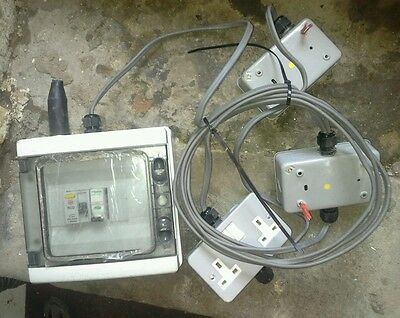 Garage Consumer unit  and sockets and length of cable