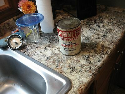 Rare Vintage Outboard Motor Oil Motorcycle Motor Oil Can Full