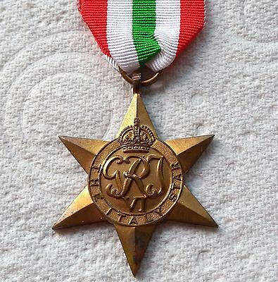 THE ITALY STAR - Genuine British WW2 War Medal