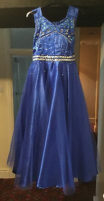 Blue Theatrical Stage Dress Costume
