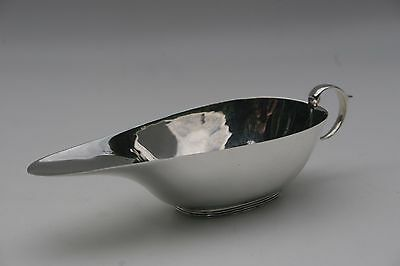Stylish Solid Silver Sauce Boat, 1938, birmingham, S. Blanckensee & Sons Ltd