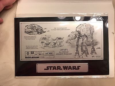 AT-AT Star Wars Sketchplate Sketch Plate ACME COA Celebration IV Exclusive