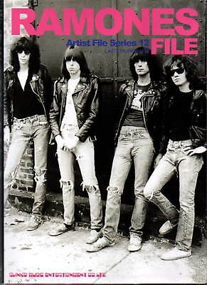 Ramones File book photo discography punk background