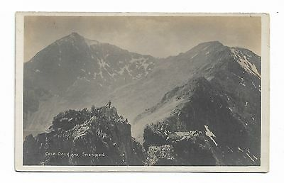 Crib Goch & Snowdon with Climber Old RP Postcard G P Abraham FRPS Unposted 121A