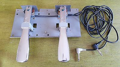 Set Of Chrome Foot Pedals - Technics Keyboard / Electric Piano Soft / Sustain