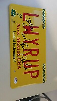 SIGNED BOB ODENKIRK Breaking Bad Better Call Saul License Plate - PSA DNA COA