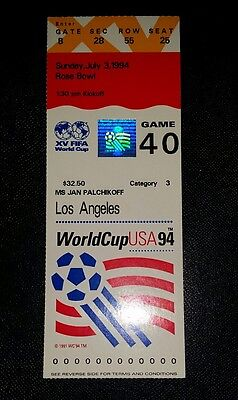 1994 semi final world cup finals ticket Sweden v Brazil