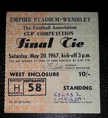 1967 FA Cup final Tottenham Hotspur v Chelsea  original ticket