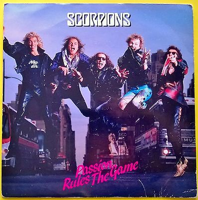 """SCORPIONS - passion rules the game 7"""" single 1988"""