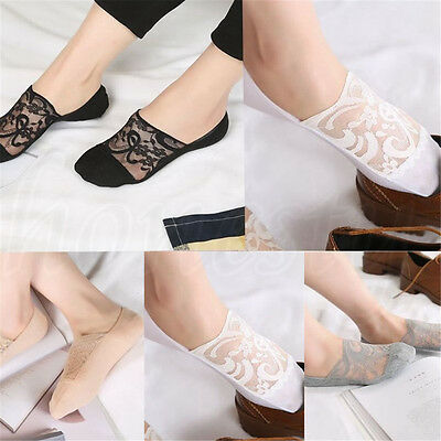 Cute Flower Antiskid Short Ankle Silk Low Cut Cotton Lace Short Sock Socks New