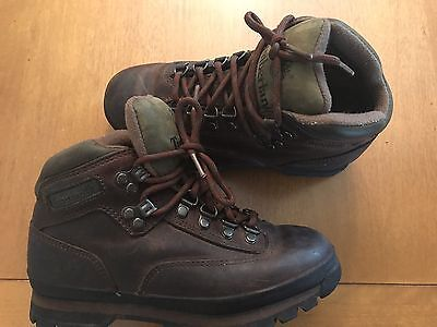 Timberland Euro Women's Size 7 Hiking Trail Brown Leather Boots