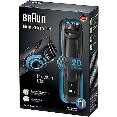 Braun BT5010 Beard Trimmer Cordless and Rechargeable Electric Hair Cutting .NEW