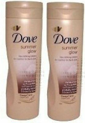 DOVE Summer Glow GRADUAL SELF TAN Body Lotion  MEDIUM to DARK x 2