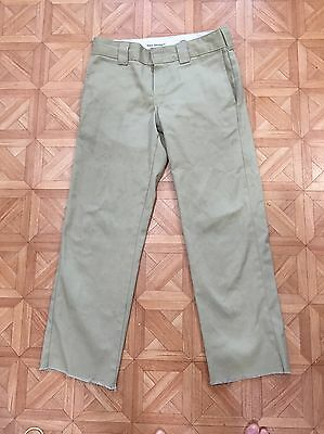 Beige Cargo Dickies W Thirty L 32 Slim Straight 873 874 Skate