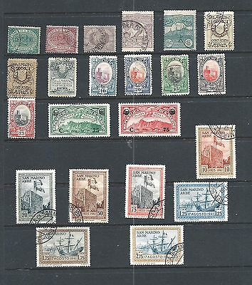 SAN MARINO - Lot of 22 old, used stamps