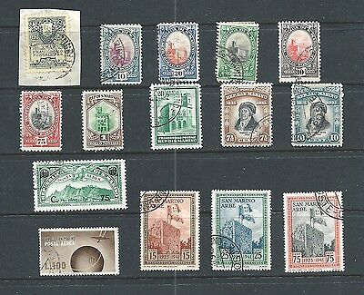 SAN MARINO - Lot of 15 old used stamps