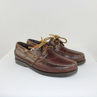 TIMBERLAND Men's Brown Leather Boat Shoes Size 9M