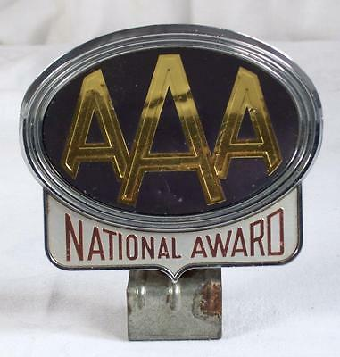 Vintage AAA Auto Club National Award License Plate Topper Swivel Joint w/ Clamp