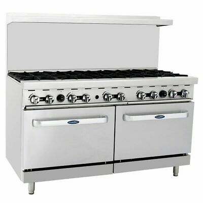 "60"" inch (5 foot) 10 Open Burner Gas Range Top with Double Oven Propane Gas LP"