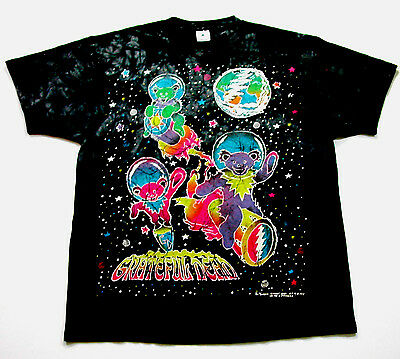Grateful Dead Shirt T Shirt Vintage 1994 Astronaut Space Drums Bears Tie Dye XL