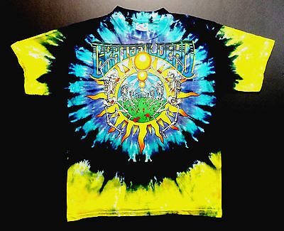 Grateful Dead Shirt T Shirt Vintage 1991 Summer Tour Tie Dye Sun Skeletons GDM L