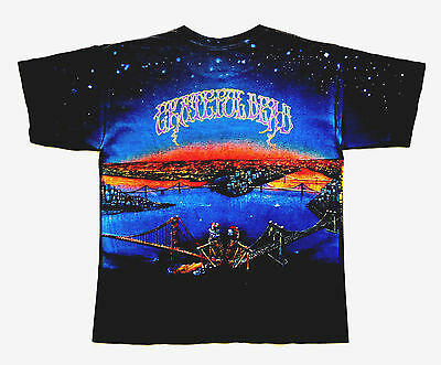 Grateful Dead Shirt T Shirt Vintage 1990 Dead Set New York San Francisco GDM XL