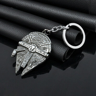 Fashion Silver Star Wars Star Destroyer Metal Keychain Keyring Key Gift Car YX30