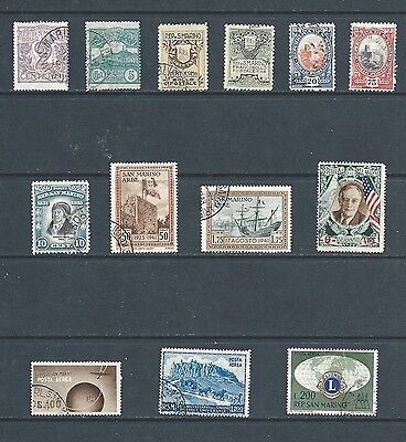 SAN MARINO - Lot of 13 old used stamps