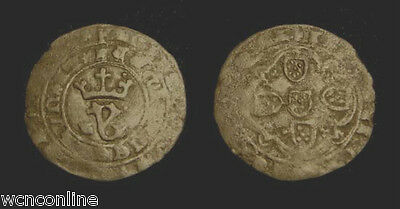 PORTUGAL. JOAO 1st AD 1385-1433. REAL BRANCO. Large planchet. Scarce!