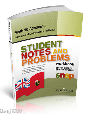 SNAP Workbook - Ontario Math 10 Academic, Principles of Mathematics (MPM2D)
