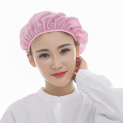 Latest Catering Cap Chef Kitchen Hygiene Work Hat Reusable Mesh Cap Pure Color