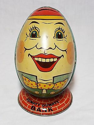 Awesome Old Vintage 1930's Chein & Co. Tin Humpty Dumpty Bank Toy Rare !!!