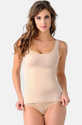 NEW BELLY BANDIT 'Mother Tucker' Scoop Neck Compression TANK Size L Nude $70