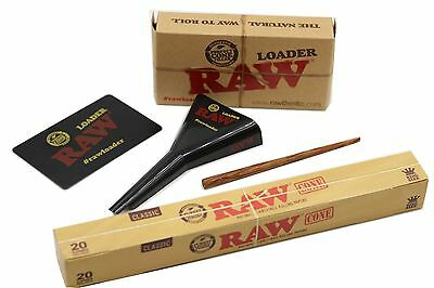 Raw Pre-Rolled Cone King Size 20 Pack +King Size Raw  Cone Loader