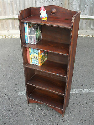 Antique oak open bookcase, 1920s period, useful size, fast economy delivery