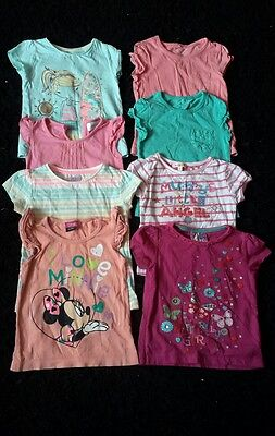 18-24 months girls big summer t-shirts bundle x8 butterfly, disney etc