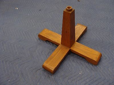 WOODEN FLAG POLE Base Flagpole Stand**FREE SHIPPING!!