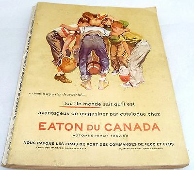 Vtg Eaton Catalogue Fall Winter 1957 - 1958 Complete With 499 Pages * French *