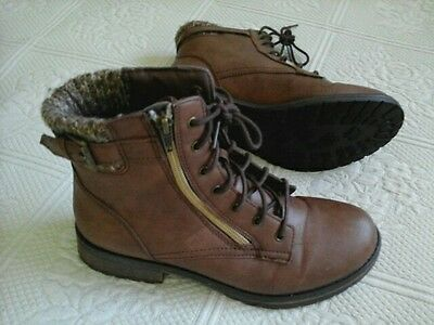 NEW! Size 6M Women's Hiking Boots Shoes Brown  Work Boots Shoes
