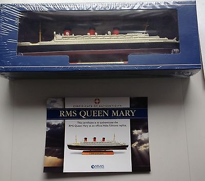 Atlas Editions RMS Queen Mary BNIB With 'Building The Titanic Book And Print