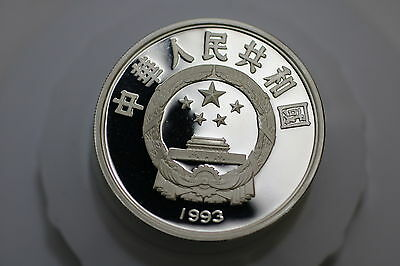 China 10 Yuan 1993 Soccer World Cup Proof A66 Oo4