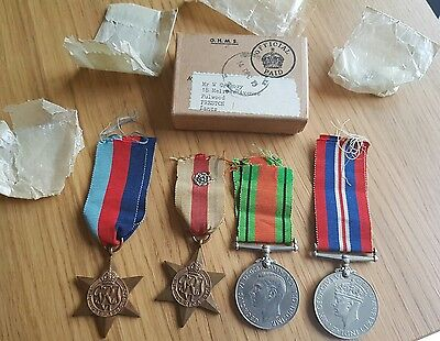WW2  Medal Group x4 Medals & Box of issue to Mr W Gregory, Fulwood Preston Man