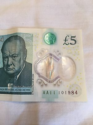 AA11 Bank of England five pound note £5
