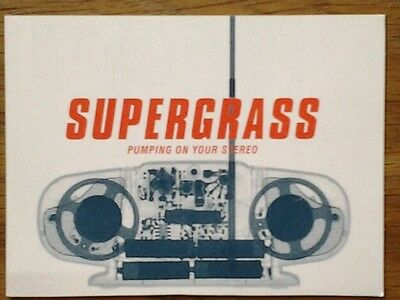 SUPERGRASS Pumping On Your Stereo PROMO POSTCARD