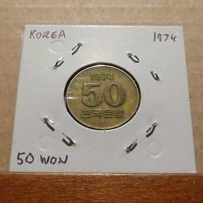 50 WON COIN - 1974 - South Korea