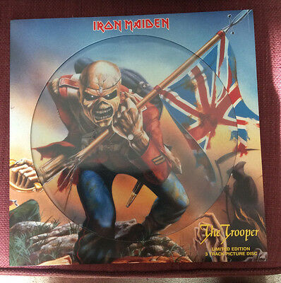 """Iron Maiden 'The Trooper' 12"""" Picture Disc Single - Near Mint Condition"""