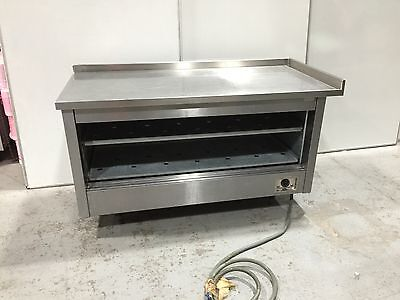 COMMERCIAL STAINLESS STEEL HOT CUPBOARD WITH PREP COUNTER TOP - 1600x750