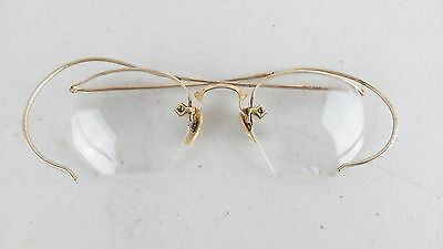 Vtg Antique Gold Filled Wire Frame Glasses Bifocals Spectacles 3