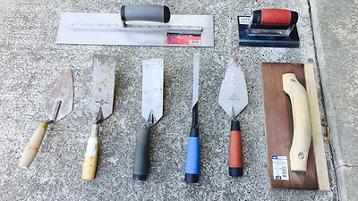 Lot of 8 Concrete Cement Tools Hand Trowel Masonry Tools Finisher Marshalltown