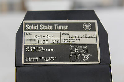 Westinghouse 1255C38G25  BST-OFF  Solid State Timer  .1 - 30 Seconds